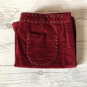 Burgundy Stud Skirt